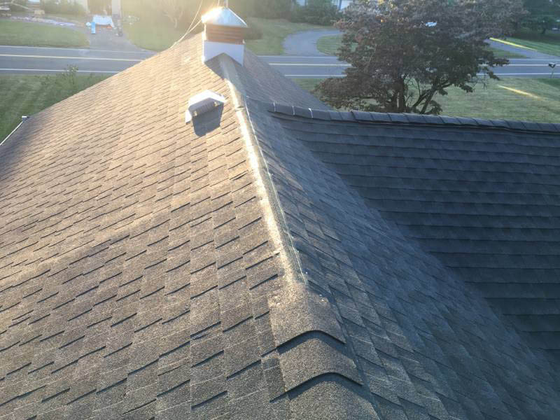 Newly shingled roof