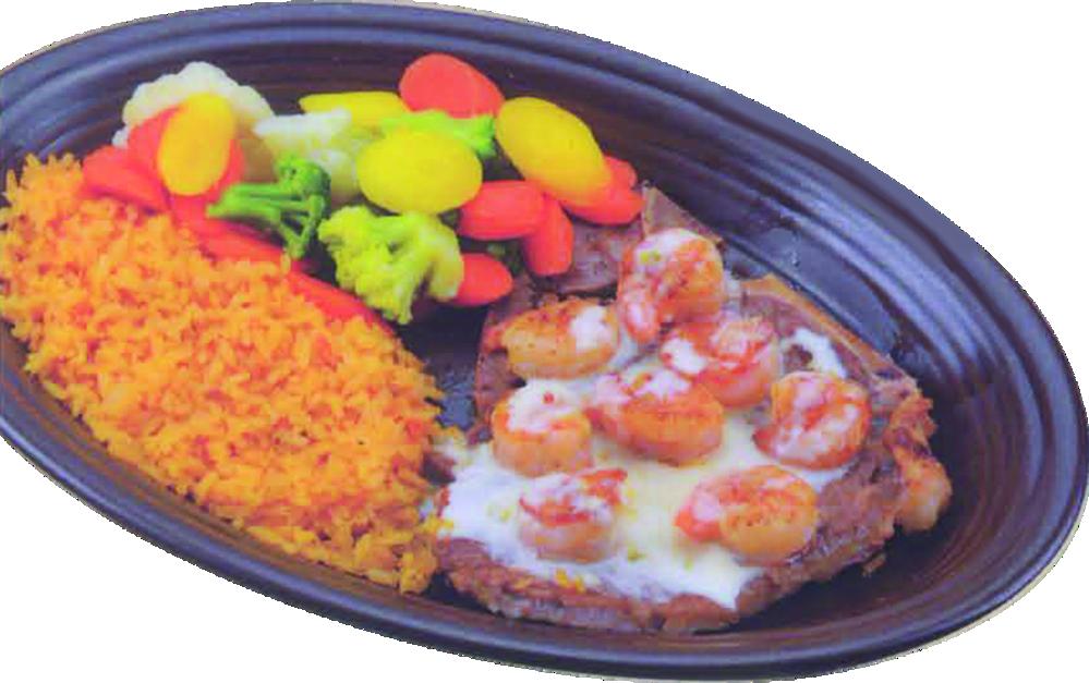 Shrimp and rice with fresh veggies