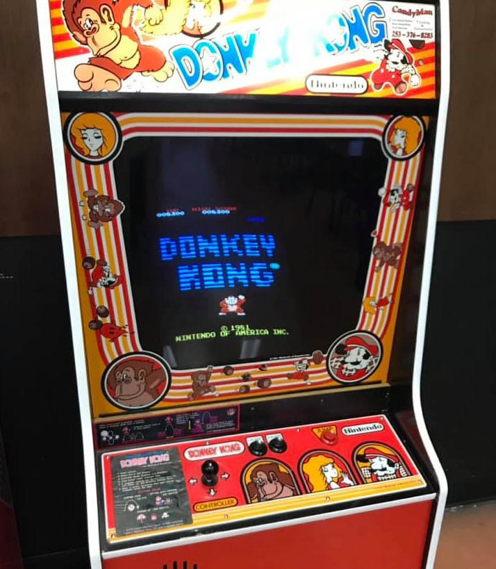 Donkey Kong arcade machine at Purdy's Arcade & Craft House in Sumner, WA - play the original Donkey Kong arcade game - arcade games near - arcades near me - food and entertainment in Sumner, WA
