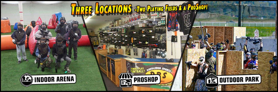 Doodlebug Sportz - three locations - indoor paintball arena - outdoor paintball park - paintball retail pro shop - Everett, WA - Snohomish, WA