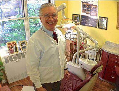 Dr. Veligdan in his dentist office