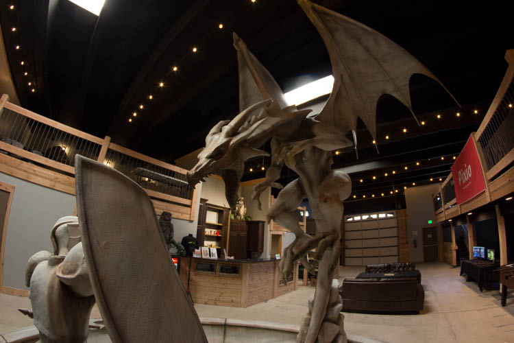 Dragon Statue at Game Tyrant in North Salt Lake