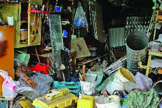driveway dumpsters garbage pile cincinnati ohio