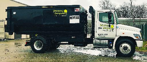 driveway dumpsters delivery truck cincinnati ohio