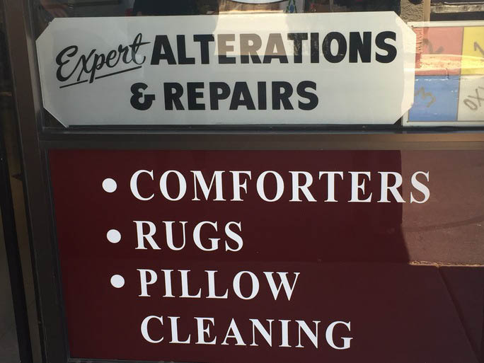 Dry cleaning, comforters, bedding