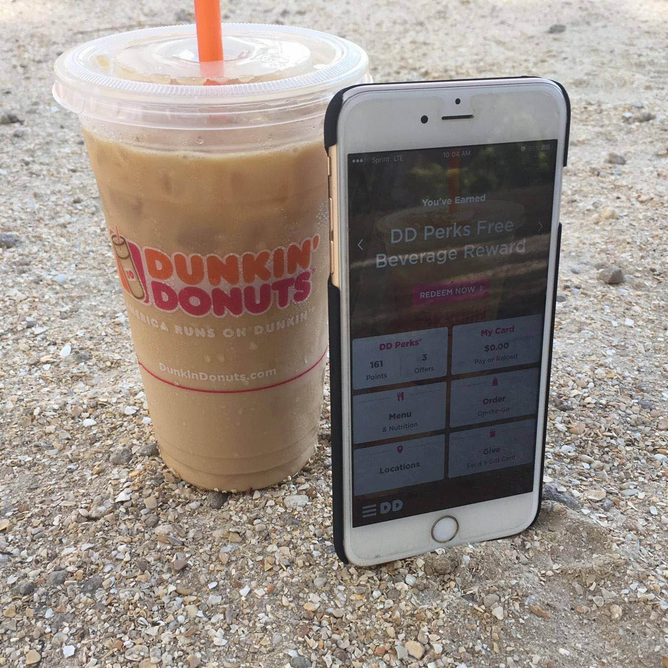 Order with the Dunkin' Donuts app