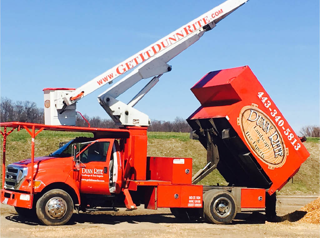 Dunn Rite landscaping with backhoe equipment