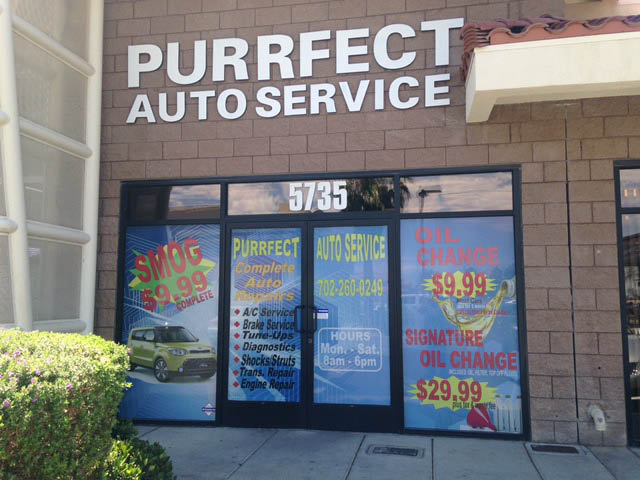 Purrfect Auto Service Brake Inspection, Las Vegas, NV oil change and filter change