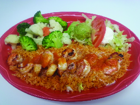 Mexican shrimp with rice and vegetables at Durango's in Oshkosh, WI