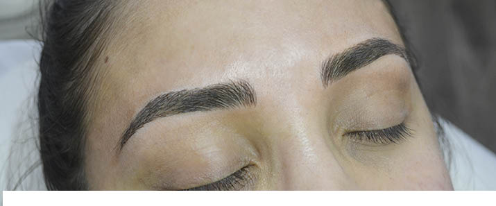 Woman's eyebrows after treatment - beautiful