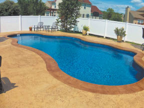 in-ground pool concrete work