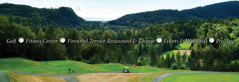 Eaglemont Golf Course & Fireweed Terrace Restaurant & Lounge fitness center events weddings proshop