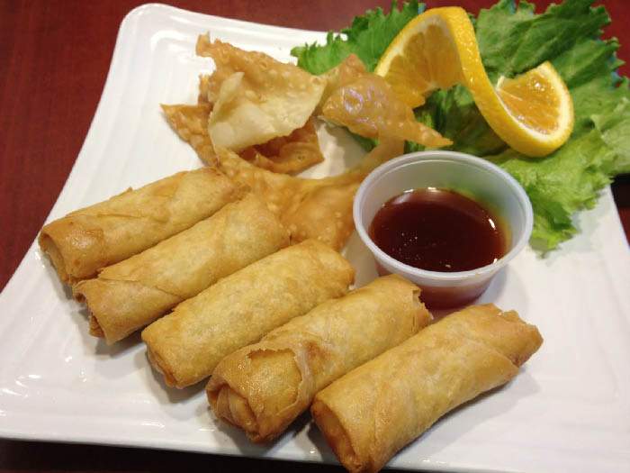 Try our freshly-made East China Spring Rolls or Egg Rolls