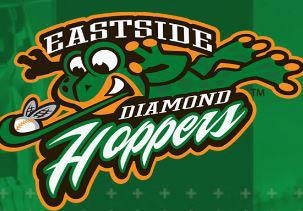 logo of the Eastside Diamond Hoppers professional baseball team