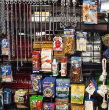 photo of pet supplies from Ed Bock's Feeds & Stuff in Pinckney, MI and Bock's Big Acre in Brighton, MI