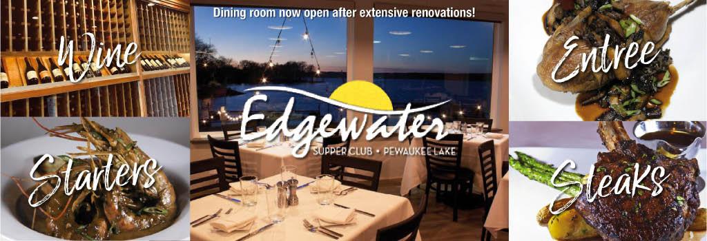 Edgewater Supper Club on Pewaukee Lake logo