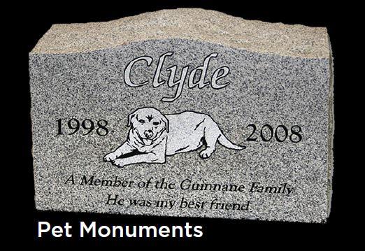 Edgewood Monuments in Puyallup, Washington creates pet monuments - pet headstone - pet gravestone