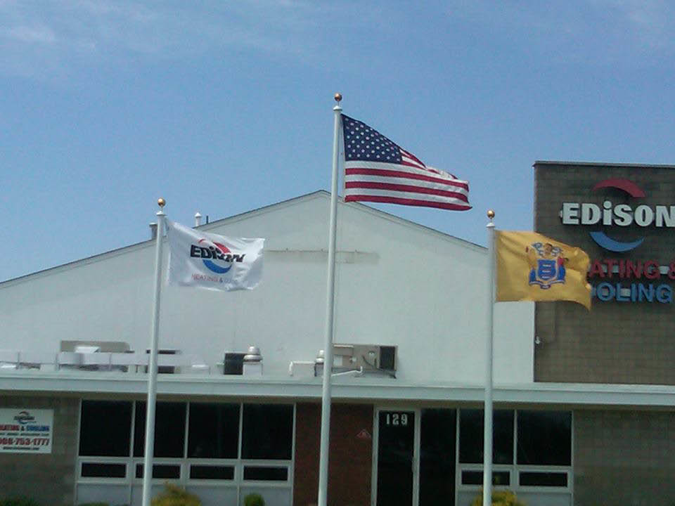 Edison HVAC of NJ's Building pic. Home of the best heating and cooling technicians in NJ.