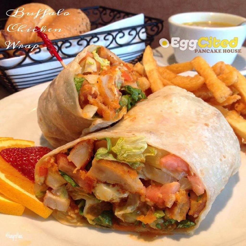 EggCited Buffalo Chicken Wrap