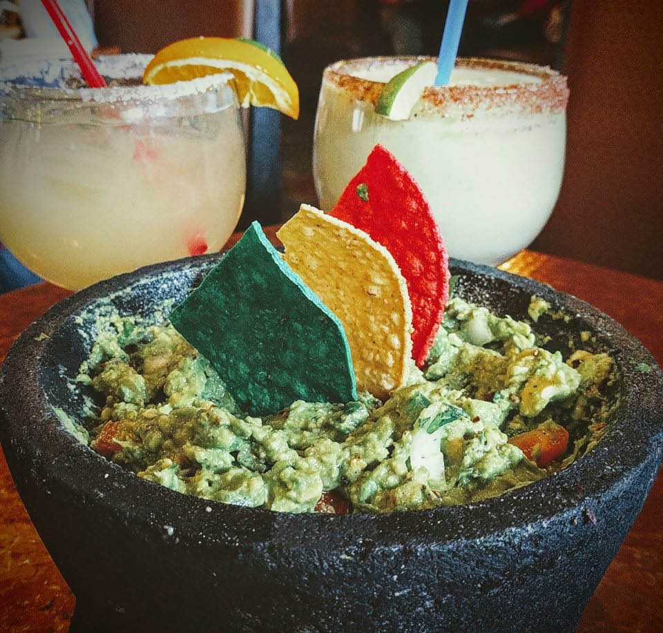 Chips and fresh guacamole and margaritas from El Sarape Mexican Restaurant in Olympia, Washington - Mexican food near me - Mexican restaurants near me - guacamole and chips