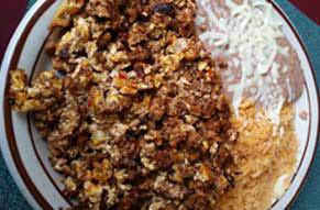 El Sombrero mexican restaurant louisville KY & Jeffersonville IN Huevos con chorizo