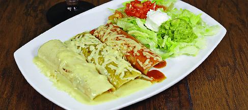 enchiladas trio platter
