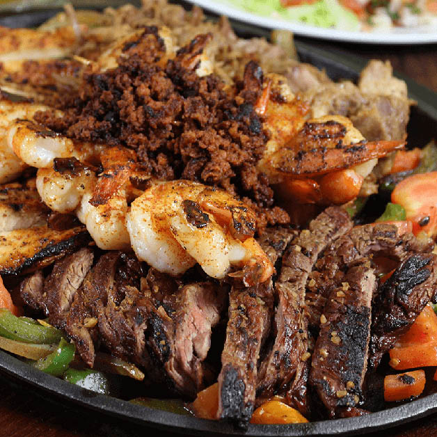Sizzling beef fajitas at El Jalisco