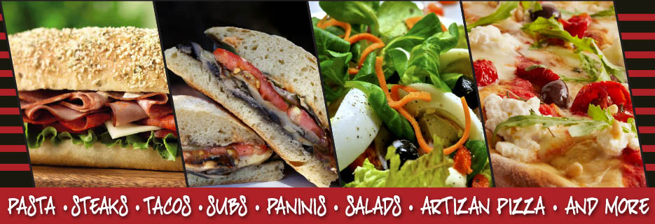 Subs, Paninis, Burgers, Salads, Pizza, Pasta, Desserts, Appetizers, Catering