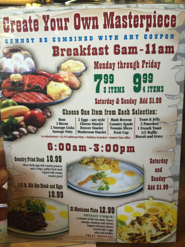 Check Out our El Rancho Menu for Breakfast, Lunch & Dinner
