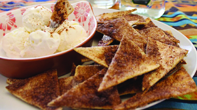 sweet flour tortilla chip dessert