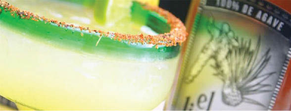 On the rocks margarita recipe with salted rim at El Porton in Roswell, GA
