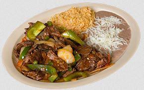 Bistek a la Mexican dinner