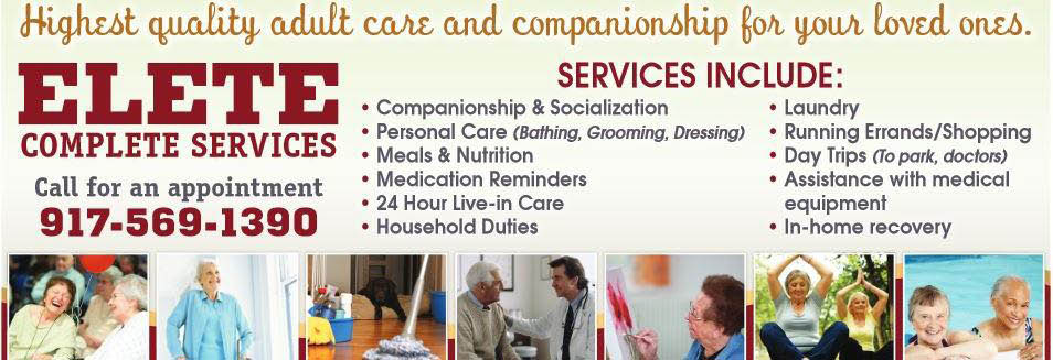 Adult Personal Care and Companionship banner