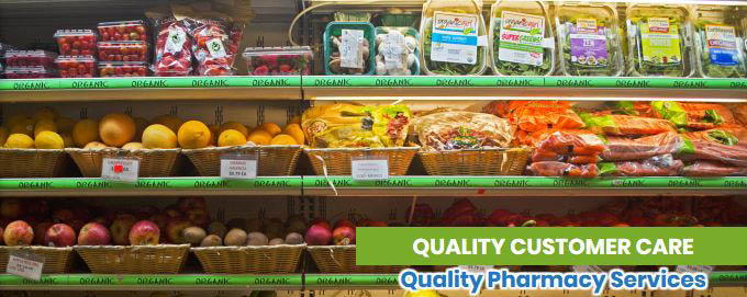 Fresh organic food, teas, coffees and household products