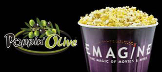 photo of Emagine Theater popcorn with Poppin Olive topping