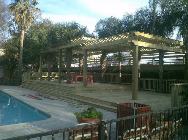 Complement your swimming pool with a new pergola