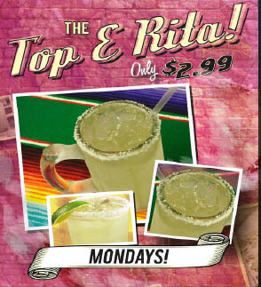 Happy Hour Mondays - Come in for the Top E Rita Special