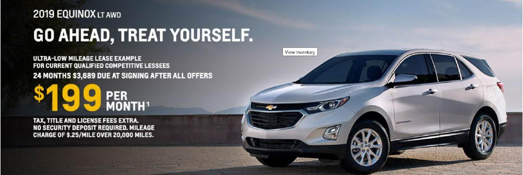 Lease an Equinox for $209/month