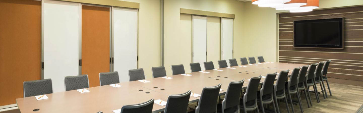 Conference room in hotel in downtown Omaha