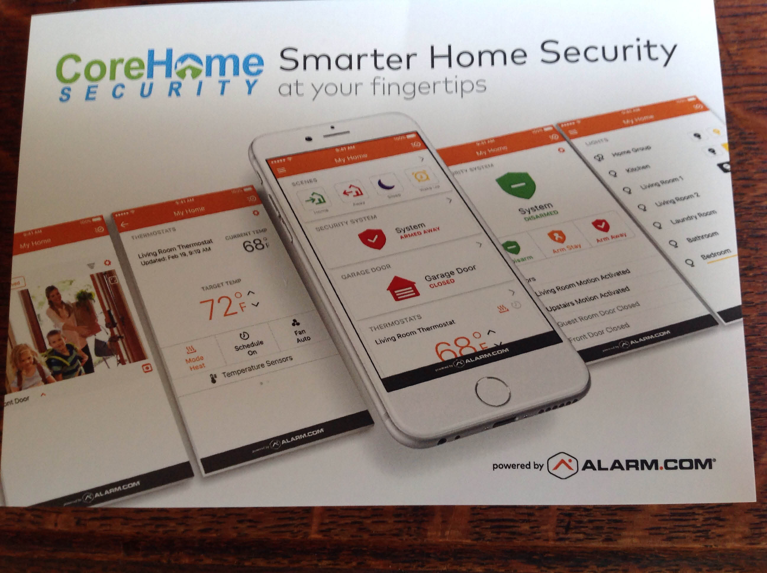 Smart home security using a smartphone