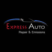 Express Auto Repair & Emissions signage in Schaumburg, IL. Located 1/8 Mile N. Off of Irving Park Rd. Across From Jorgensen Steel (2 Buildings South of Vehicle Emissions Testing Center)