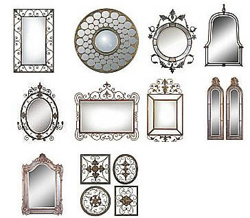 Large selection of mirrors at Express Frames in Morristown NJ