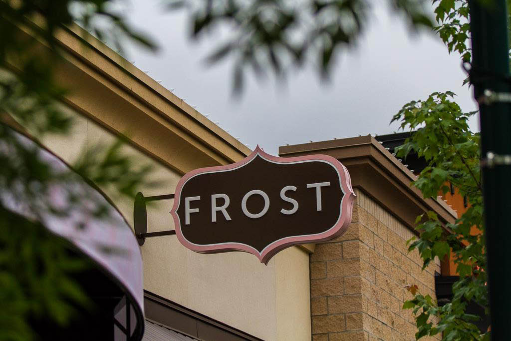 Exterior sign of Frost - Doughnuts - Seattle area doughnuts - donuts - Mill Creek, Washington