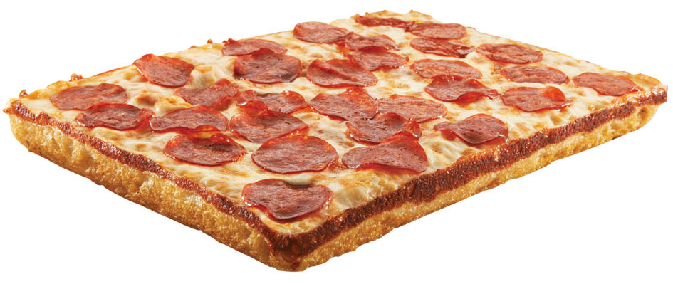 photo of square pepperoni pizza from Hungry Howie's Pizza in Flat Rock & Trenton, MI