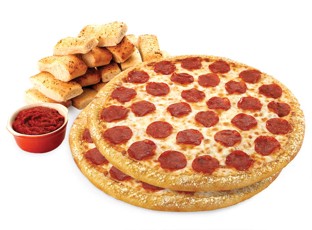 photo of pizza and bread stick combo from Hungry Howie's Pizza in Flat Rock, MI or Trenton, MI