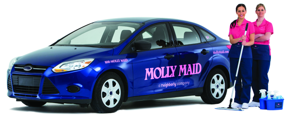 two Molly Maid cleaning professionals ready to scrub your home in Westchester, NY
