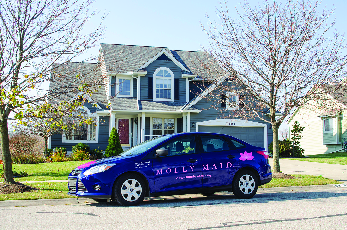 Molly Maid car allows skilled technicians to travel to your residence
