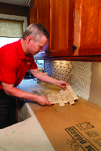 Mr. Handyman can replace old kitchen countertops