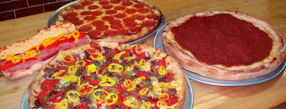 Picture of Falbo Bros Pizza in Shorewood cheesy loaded thin, Deep dish and Chicago Style Pizza.