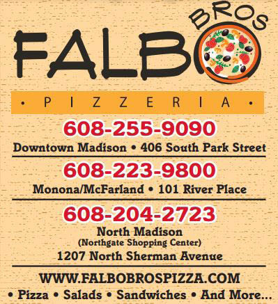 Three Madison area locations for Falbo Bros Pizzeria